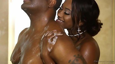 Hot nuru massage with a booty ebony - Skyler Nicole, Tyler Knight