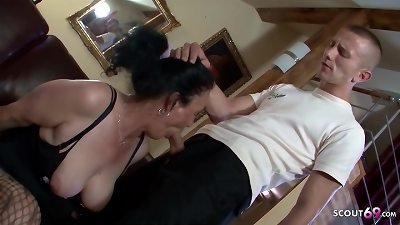 hairy grandma Found pornography of young boy and let him fuck ass fucking