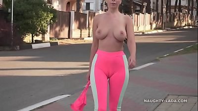 Cameltoe - I wore taut yoga pants in public