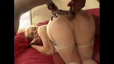 Adrianna Nicole - ebony jizz-shotguns in white damsels #14