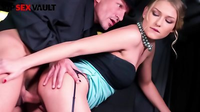 VIP sex VAULT - #Lucy Heart - stylish Russian business girl Backseat joy With The old Uber Driver