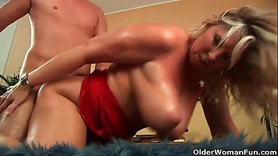 mature soccer mom with inborn humungous boobs gets pounded
