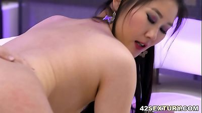 Asian slut needs big european dick